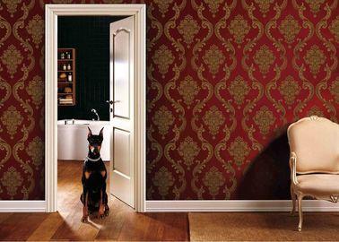 μετακινούμενα καλύμματα τοίχων PVC καθιστικών 0.53*10M με το κόκκινο και χρυσό χρώμα, SGS του ISO