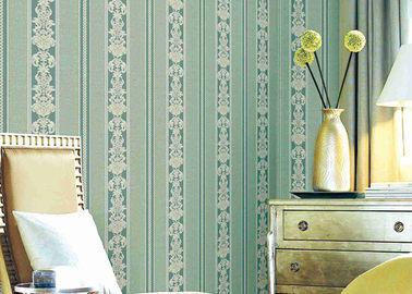 Washable κλασική ριγωτή Floral ταπετσαρία, βινυλίου υλικά ανθεκτικά καλύμματα τοίχων