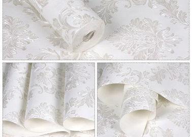 Floral κανένα κόλλας άσπρο αυτοκόλλητο κάλυμμα τοίχων ταπετσαριών μετακινούμενο