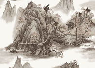 Chinese Style contemporary wall coverings Mountains And Rivers For Sofa/TV Background